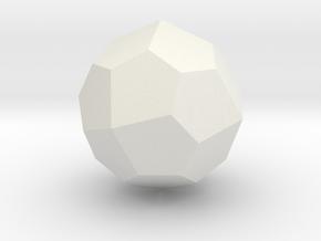 Pentagonal Icositetrahedron (Laevo) - 1 Inch in White Natural Versatile Plastic