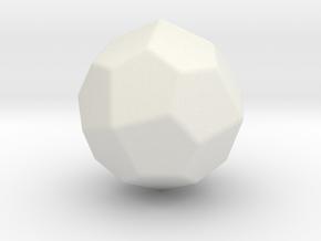 Pentagonal Icositetrahedron (Laevo) - 1In-RoundV1 in White Natural Versatile Plastic