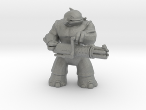 Whaleian Heavy Trooper miniature model games rpg in Gray PA12