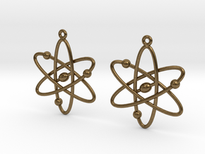 Atom Earring Set in Natural Bronze