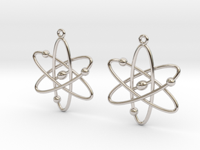 Atom Earring Set in Platinum