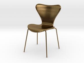 Fritz Hansen Series 7 Chair - 6.8cm tall in Natural Bronze