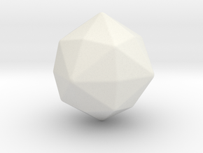 Disdyakis Dodecahedron - 1 Inch - Round V2 in White Natural Versatile Plastic