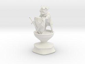 King - Dogs Of War Chess Piece in White Natural Versatile Plastic