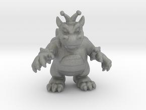 King Koopa miniature model fantasy games dnd rpg in Gray PA12