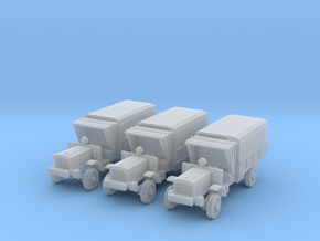 1/220 scale WW1 light trucks in Frosted Ultra Detail