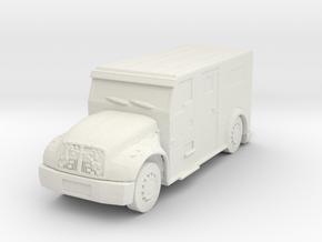 International Armored Truck 1/64 in White Natural Versatile Plastic