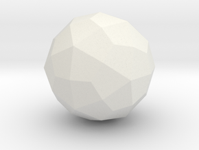 Deltoidal Hexecontahedron - 1 Inch - Round V1 in White Natural Versatile Plastic