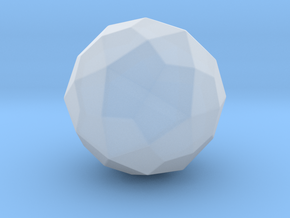 Deltoidal Hexecontahedron - 10mm - Round V1 in Smooth Fine Detail Plastic