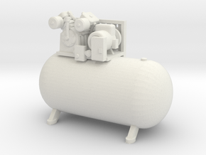 1/25th Large Horizontal Shop Type Air Compressor in White Natural Versatile Plastic