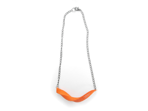 Arithmetic Necklace (Bar) in Orange Strong & Flexible Polished