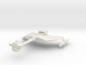 """DSC Klingon D7 v2  4.5"""" long in White Natural Versatile Plastic"""