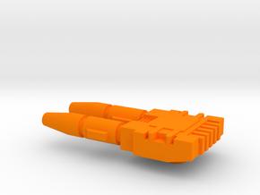 Starcom - Laser Artillery - Small Laser v1 in Orange Processed Versatile Plastic