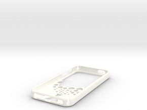 IPhone 5S Case Reaction in White Strong & Flexible Polished