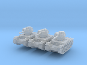 Panzer 38t E (x3) 1/220 in Smooth Fine Detail Plastic