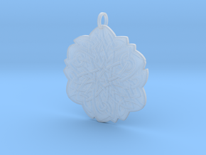 Celtic Knot Pendant in Smooth Fine Detail Plastic