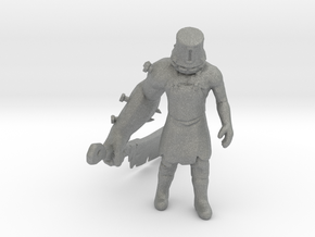Buckethead Zombie miniature model games rpg dnd SH in Gray PA12