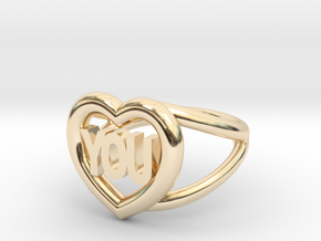 I love you ring in 14K Yellow Gold