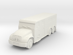 International Armored Truck 6x6 1/56 in White Natural Versatile Plastic