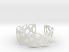 Cellular Bracelet Size L in White Natural Versatile Plastic