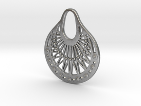Ornamental Pendant / Earring in Natural Silver