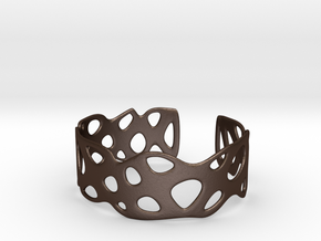 Cellular Bracelet Size M in Matte Bronze Steel