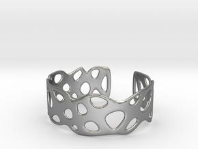 Cellular Bracelet Size M in Natural Silver