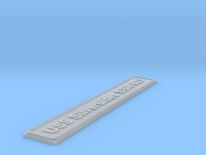 Nameplate USS Silversides SSN-807 in Smoothest Fine Detail Plastic