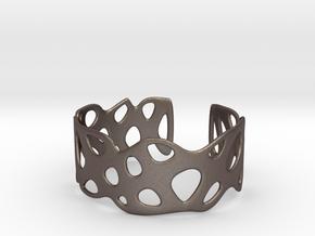 Cellular Bracelet Size S in Polished Bronzed Silver Steel