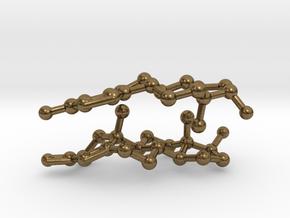 Testosterone and Estrogen SMALL in Natural Bronze