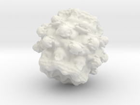 Fractal - Poission in White Natural Versatile Plastic