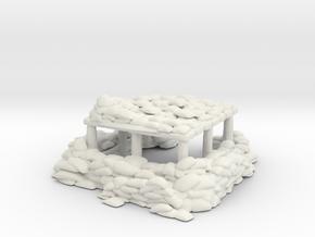 Sandbag Bunker 1/144 in White Natural Versatile Plastic