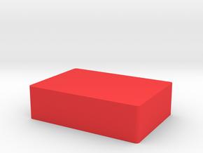 Button Cap in Red Processed Versatile Plastic