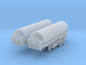 Tank Trailer (x2) 1/350 in Smooth Fine Detail Plastic