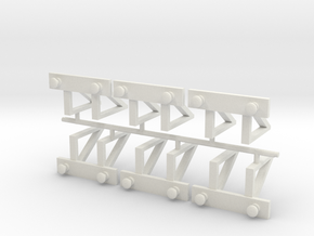 Buffers Group in White Natural Versatile Plastic