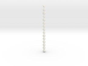 Catalan Solids - 1 Inch - Normal in White Natural Versatile Plastic