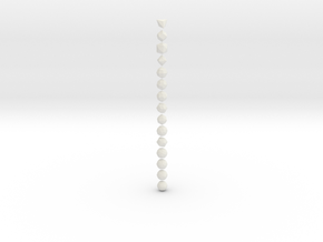 Catalan Solids - 1 Inch - Rounded V2 in White Natural Versatile Plastic