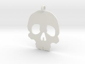 Skull necklace charm in White Natural Versatile Plastic