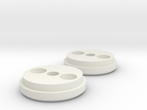Magnetic Anchors in White Natural Versatile Plastic