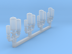 1/200 Titanic Triple Whistles in Smoothest Fine Detail Plastic