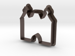 Hexenturm Cookie Cutter in Polished Bronzed Silver Steel