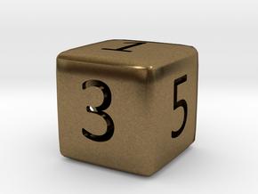 Numeric Dice in Natural Bronze