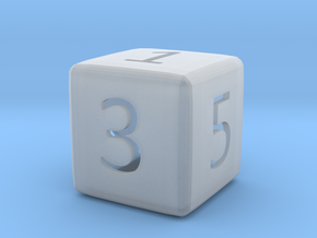 Numeric Dice in Smooth Fine Detail Plastic