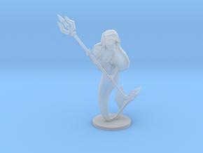 Mermaid Warrior Princess miniature model fantasy in Smooth Fine Detail Plastic