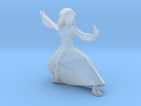 Hua Mulan miniature model fantasy games rpg dnd in Smooth Fine Detail Plastic