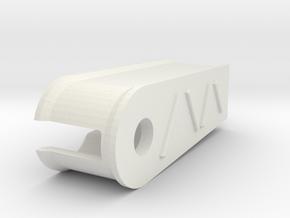 Losi LMT Sway Bar Cover in White Natural Versatile Plastic: 1:10