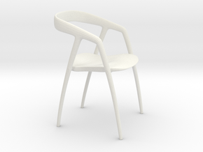 Miniature Dining Chair in White Natural Versatile Plastic