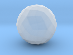 Joined Rhombicosidodecahedron - 10 mm - Rounded V1 in Smooth Fine Detail Plastic