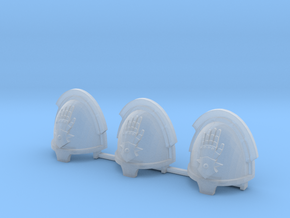 Steel Handed Warriors Bladeguards pads x3 R #2 in Smooth Fine Detail Plastic