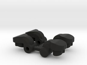 RC10B6.2 Angled Fan Mount in Black Natural Versatile Plastic